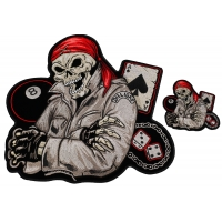 Biker Guy Front And Back 2 Piece Patch Set