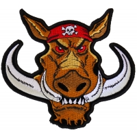 Biker Hog Patch Small Hawg | Embroidered Patches