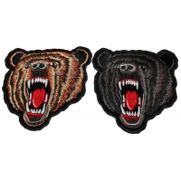 Black And Brown Bear Patches