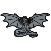 Dragon with Skulls Reflective Patch