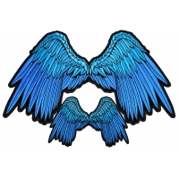 Pretty Blue Angel Wings Small And Large Patch