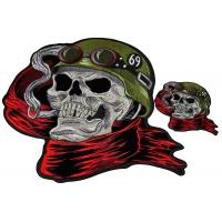 Set of 2 Biker Skull Patches