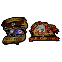 Set of 2 Freedom Isn't Free Eagle Patches