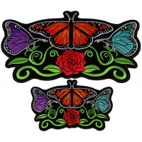 Set of 2 Small and Large Butterflies Patches