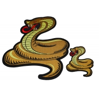 Set of 2 Small and Large Cobra Snake Patches