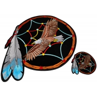 Set of 2 Small and Large Eagle in Dreamcatcher Patches