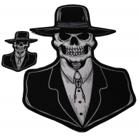 Set of 2 Small and Large Preacher Skull Patches