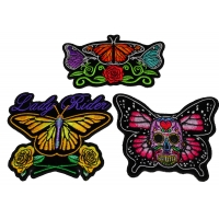 Set of 3 Pretty Butterfly Patches