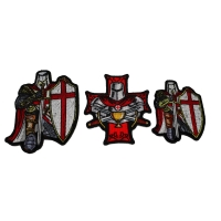 Set of 3 Red Knight Patches