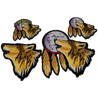Set of 4 Howling Wolf Patches