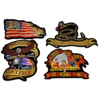 Set of 4 Iron on Patriotic Patches