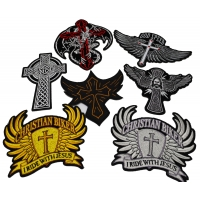 Set of 7 Christian Biker Patches