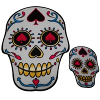 Sugar Skulls Spades Small And Large Patch Set