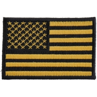 Yellow Black American Flag Patch | Embroidered Patches