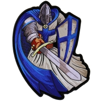 Blue Cape Knight Large Back Patch