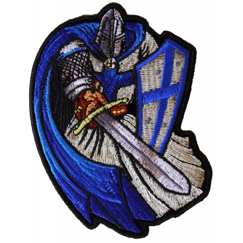 1ba4197ee4c Blue Cape Knight Patch - TheCheapPlace