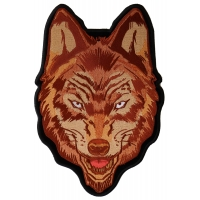 Brown Wolf Patch Large