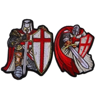Red Crusader Knights Templar Patch Set of 2