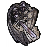 Silver Cape Templar Knight Patch