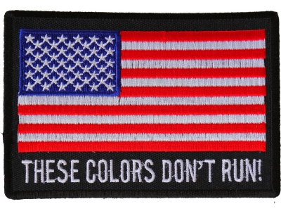 """USA Flag  /""""These colors don/'t run/""""  Sticker LOT NEW"""