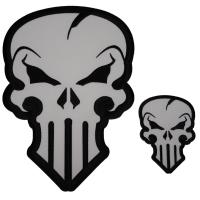 Set of 2 Skull Patches similar to Punisher