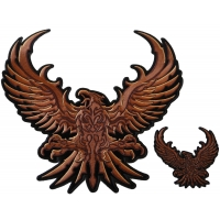 Brown Eagle Small and Large Patch Set