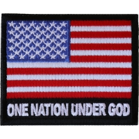 One Nation Under God American Flag Patch