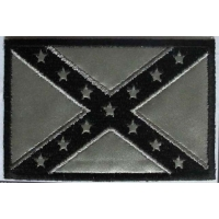 Reflective Rebel Flag Patch