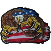 Big Claws Eagle Large Embroidered Patch