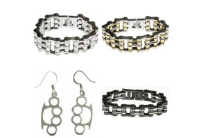Biker Jewelry - Bracelets and Ear Rings