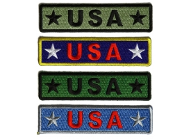 Iron on Patches with USA Embroidered in Different Colors