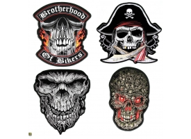 Large Skull Patches by Hot Leathers