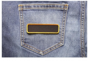Shop Blank Name Tag Patches with Different Color Borders