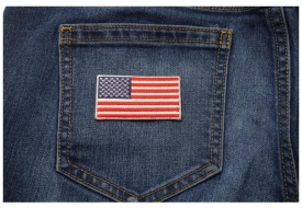 Shop 2.5 Inch American Flag Patches Embroidered Iron on