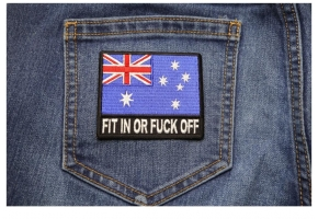 Fit in Or Fuck Off Flag Patches
