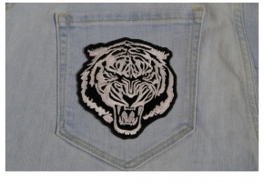 Embroidered Tiger Patches