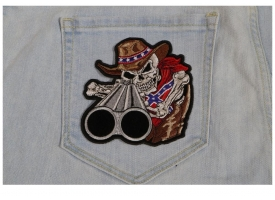 Cowboy Patch Designs of Skulls