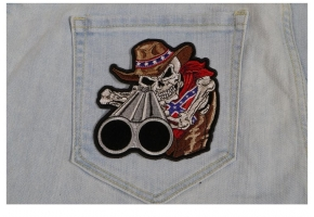 Cowboy Patch Designs of Skulls