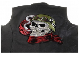 Large Sew-on Patches for the Back of Leather Biker Jackets and Vests
