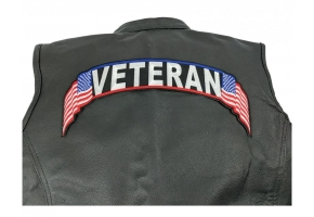 American Flag Tipped Large Rocker Patches for the Back of Your Jacket
