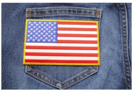 5 Inch American Flag Patches