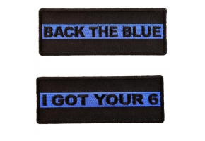 Thin Blue Line Police Patches