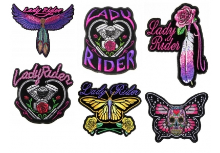 Lady Biker Purple Scroll Lady Bikers Vest Or Jacket Embroidered  Cloth Patch