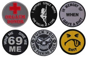 Shop Humor and Offensive Iron on Patches - Vulgar and Mean Patches Fuck You