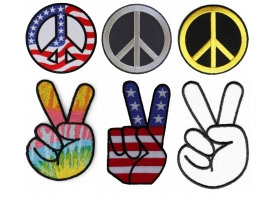 Shop Embroidered Peace Sign Patches & Peace Patches