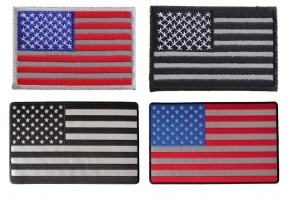 Shop Reflective American US Flag Patches