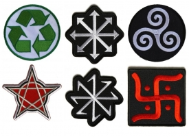 Embroidered Symbols as Iron on Patches