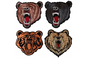 Embroidered Bear Patches