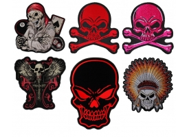 Colorful Skull Patches