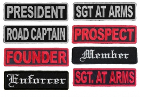 Biker MC Rank Patches